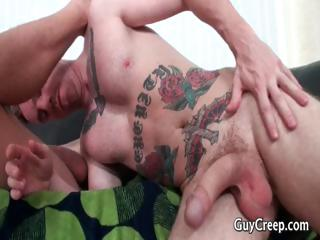 Alexander receives his cute chocolate hole drilled