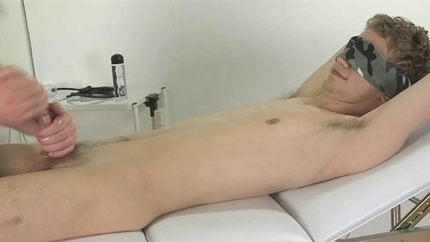 Blindfolded homosexual guy acquires his jock wanked priceless