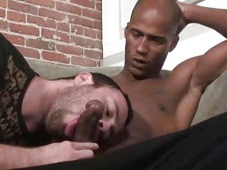 Lewd homosexual Ryan Starr seduces a black shlong