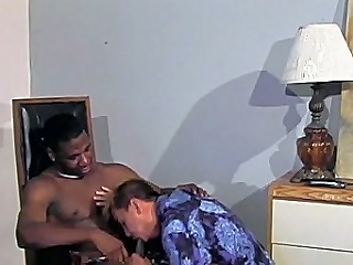 This excellent interracial homosexual sex clip starts with macho black hunk...