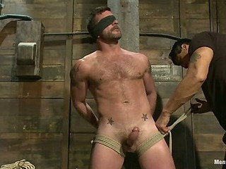 Mr Morgan Darksome is taken, beaten, edged and milked.