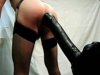 Large dildo 360x80mm all in a sexy butt