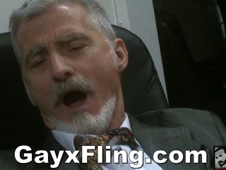 Homo Old Stud Masturbating In Office