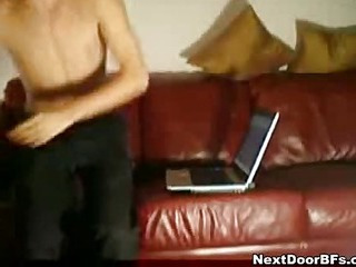 Amateur homosexual excited act on web camera