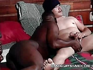 Darksome Gay Mouthing a Cock