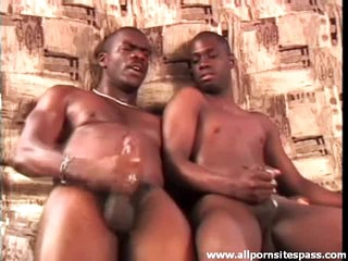 Watch slick dark dongs cum after arse plowing
