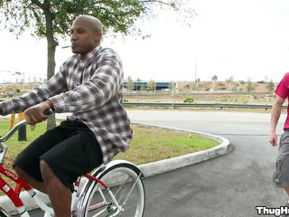 Black fellow on a bike is beginning to give a oral sex to a white man. Will the white fellow acquire rammed too, or merely the dark fellow shall acquire rod in his ass? In what poses will they fuck and where shall he acquire his the white man's love juice?