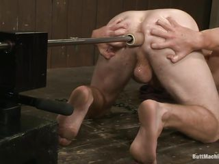 young guy has some unusual craving for his butt to be fucked, but this chab needs some bizarre unfathomable butt fuck which i think is only possible with machine. So this chab arranges fucking machine for himself and drilled his butt with it. His moaning during fuck explains that how much is this chab enjoying the unfathomable penetration of the sex tool in his anus.