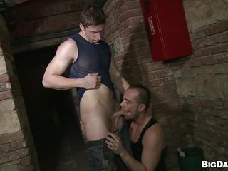 Although it's a public place that basement is flawless for homosexual guys to have a fuck. These guys are here for us and they crave to show us how much joy they have engulfing cock. Nice-looking Paris rubs his dick and then Savkov approaches and takes out his. Paris kneels in front of him and enjoys the hardness and taste of his penis