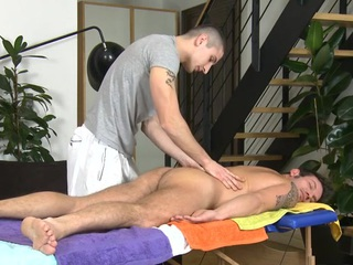 Delightful anal poundings during massage